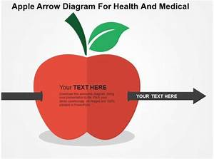 Apple Arrow Diagram For Health And Medical Flat Powerpoint Design