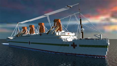 The Sinking Of The Britannic Minecraft by Minecraft Liner Hmhs Britannic 1 1 Scale Sinking