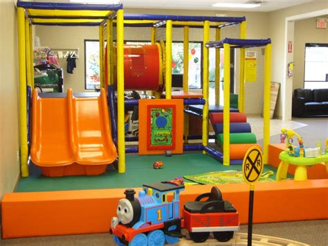 Enjoyable Indoor Playground Decorated With Orange Sliding