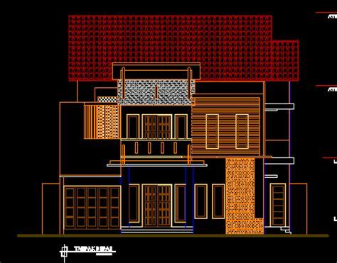 gambar kerja desain ruko  rumah