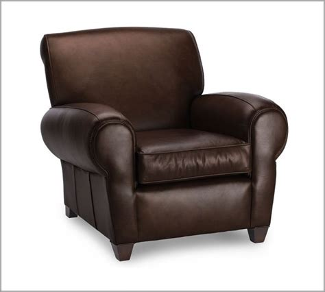 leather club chair manhattan leather club chair traditional armchairs and accent chairs by pottery barn