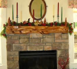 Rustic Log Fireplace Mantels
