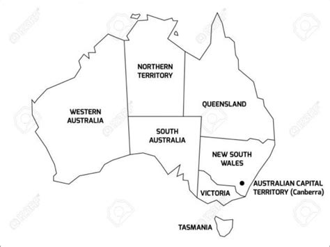 Downloads are subject to this site's term of use. Blank Map Of Australia Printable 1 Maps Update 8931015 ...