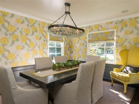 whimsical yellow dining room hgtv