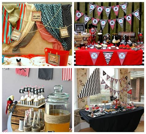 Pirate Decoration Ideas - featured client pirate theme inspiration board
