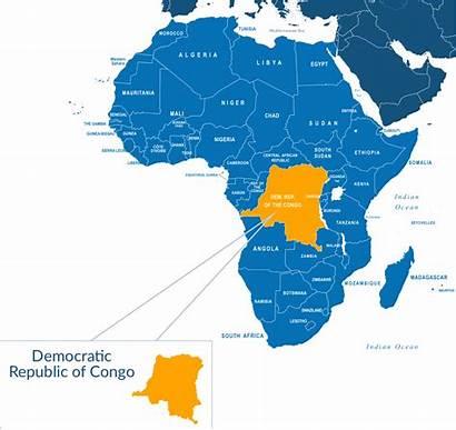 Congo Republic Democratic Africa Map Stuck Workers