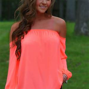 Simply Sweet f Shoulder Top Neon from Blue Layne Boutique