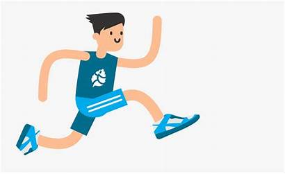 Clipart Running Person Background Athletic Transparent Boy