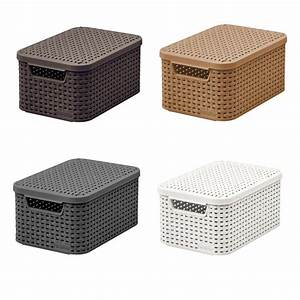 Rattan Box Mit Deckel : curver aufbewahrungskorb korb box deckel 3 farben l rattan style aufbewahrung ebay ~ Bigdaddyawards.com Haus und Dekorationen
