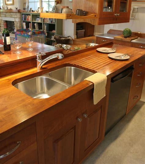 custom wood countertop options drainboards