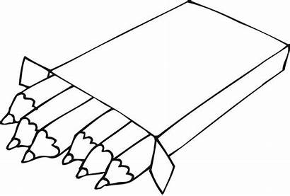 Coloring Pages Pencils Ruler Crayons Colouring Kindergarten