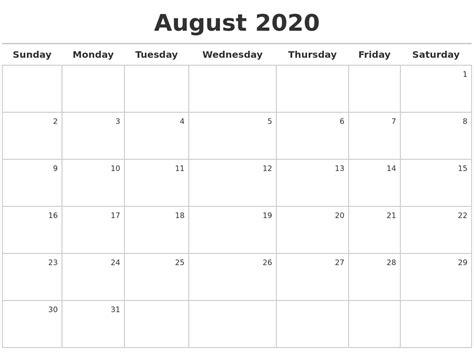 august calendar maker