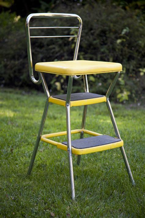 retro kitchen step stool chair eclectibull