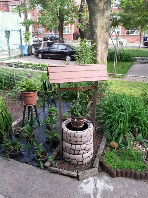 build  wishing  planter  recycled tires