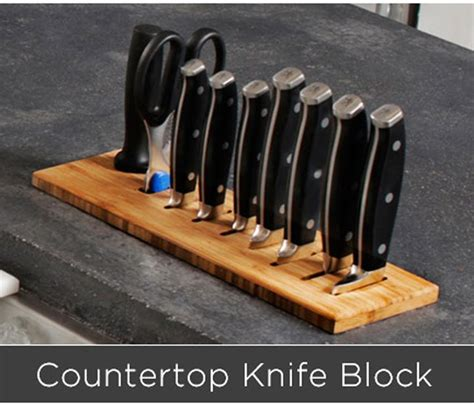 galley countertop recessed knife block affordable