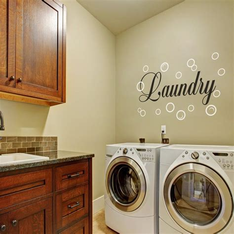 Laundry Room Wall Decal Family Bubble Quote Washroom Vinyl