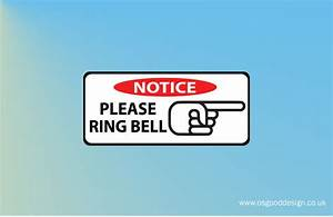 Notice Please Ring Bell Right Doorbell Sign Door Sign