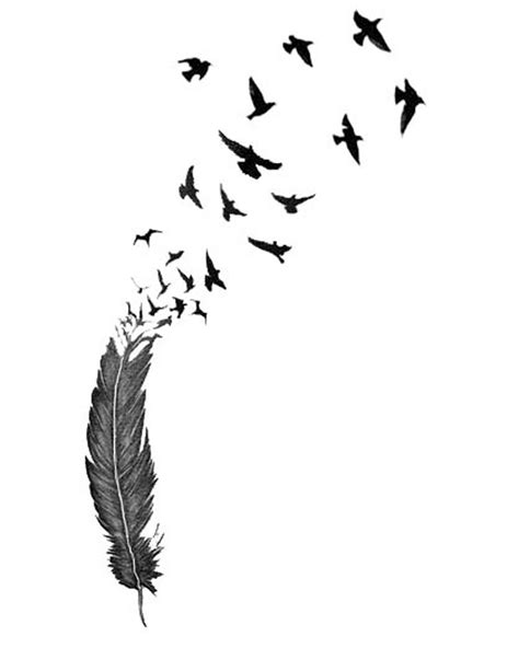 Birds Of A Feather Sketch for Temporary Tattoo