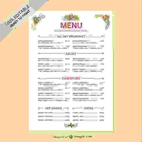 sle menu template free editable menu templates 28 images editable food menu templates big al s foodservice uk