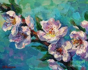 Peach Blossoms Flowers Painting Painting by Svetlana Novikova
