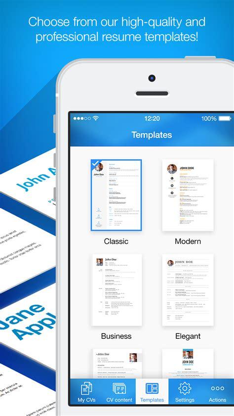 app shopper resume maker pro cv designer business
