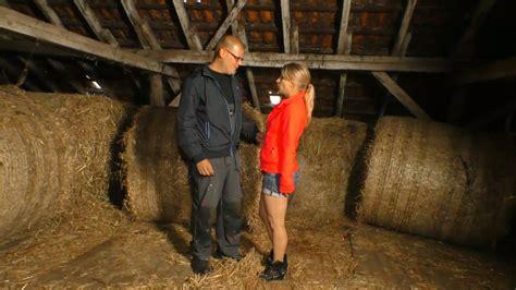 Village Blond Chick Verka Seduces One Farmer And Has A