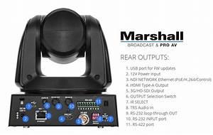 Marshall Cv620-ndi Full-hd Ptz Camera With Ndi