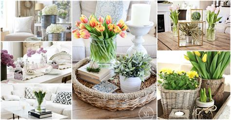 terrific flower centerpieces for dining table decorating spring coffee table decor see how they did it