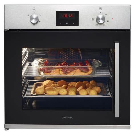 lamona left hand side opening single fan oven stainless