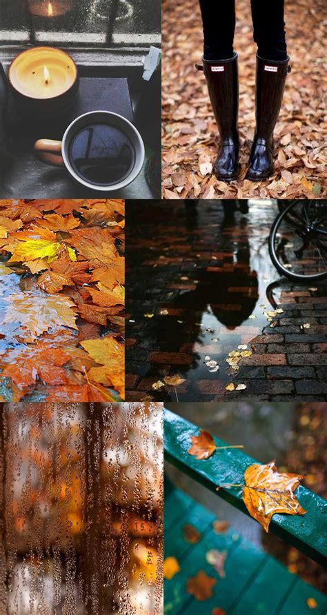 moodboard rainy fall morning elements