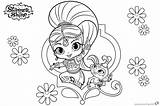 Shimmer Shine Coloring Pages Printable Pet Getdrawings Bettercoloring sketch template