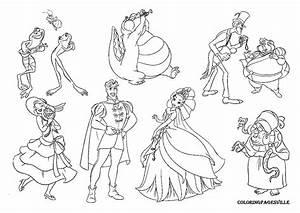 princess and the frog free Free Coloring Sheets