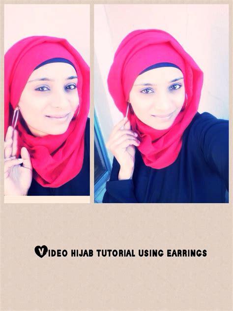 hijab tutorial  earings funky hijabi