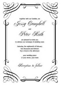 free wedding templates blank wedding invitation templates