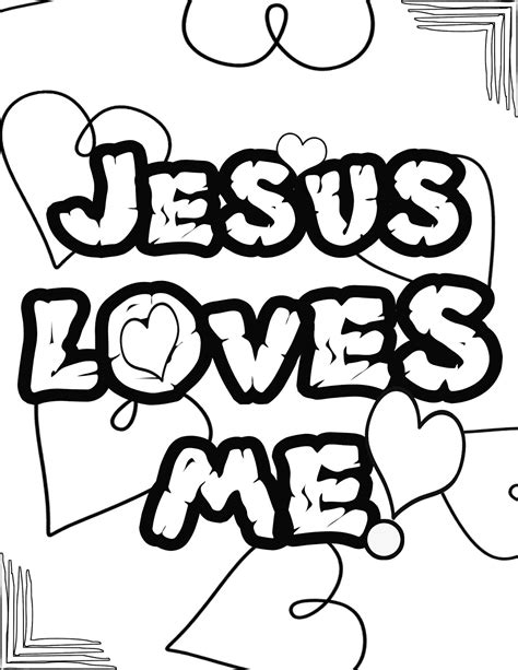 blessing ministries jesus loves  coloring