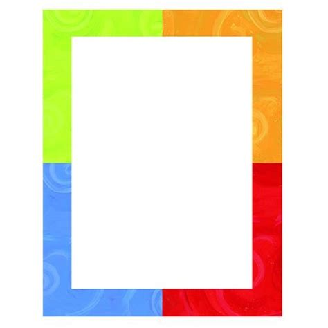 colorful border colorful borders