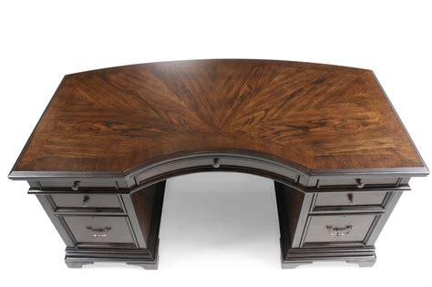curved executive office desk aspen essex 66 quot curved executive desk mathis brothers