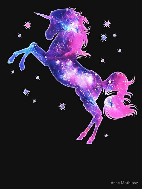 Galaxy Unicorn Neon Wallpaper by Quot Cosmic Unicorn Galaxy Style Space Universe Space Quot T