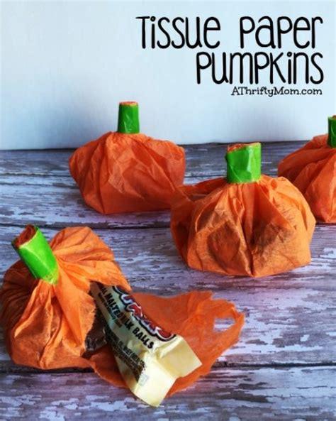 tissue paper pumpkins great party favor