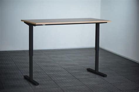 bureau 1m hoogte verstelbaar bureau 1m zwart ergo2work
