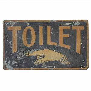 antique double sided tin sign quot toilet quot at 1stdibs With antique bathroom sign