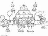 Coloring Ramadan Pages Mubarak Printable Eid Masjid Kleurplaat Celebration Fitr Print Popular Ul sketch template