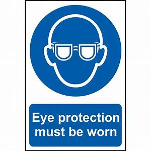 Scan Wear Eye Protecton Notice - Safety Signs General