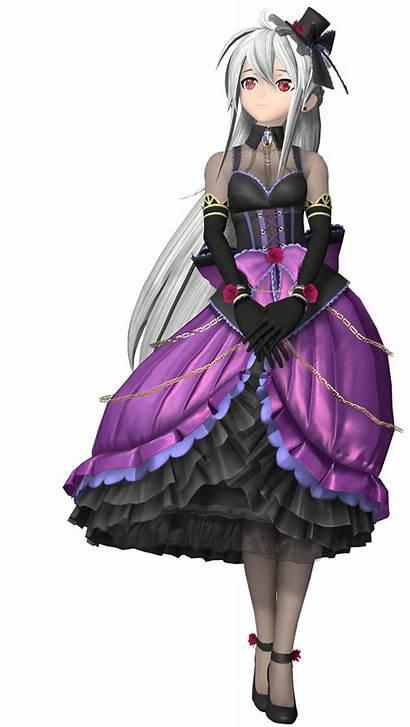 Haku Gothic Vocaloid Purple Yowane Module Transparent