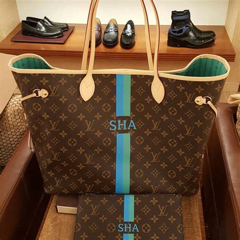 personalized louis vuitton mon monogram neverfull gm