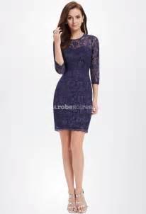 robe mariã e courte dentelle robe courte en dentelle bleu avec manches