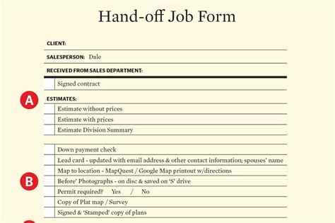 pass  baton sales  production hand  form