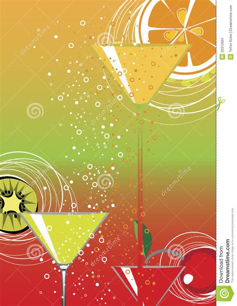 Cocktail Party Stock Vector Image Of Liquor, Lemon, Juice
