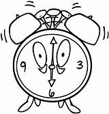 Clock Coloring Alarm Printable Clip Cartoonized Pages Wecoloringpage sketch template