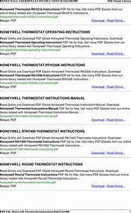 Honeywell Digital Thermostat Rth221b1000 User Manual